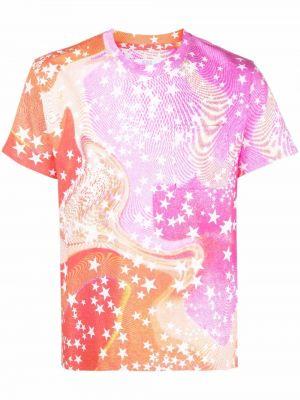 Różowa t-shirt krótki rękaw Erl