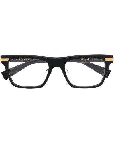 Prosto oprawka do okularów złoto prostokątny Balmain Eyewear