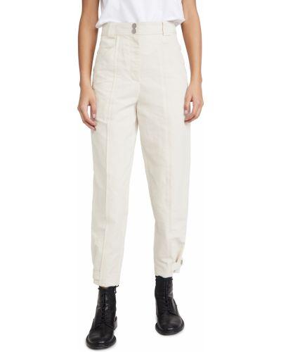 Хлопковые укороченные брюки стрейч с манжетами Rebecca Taylor