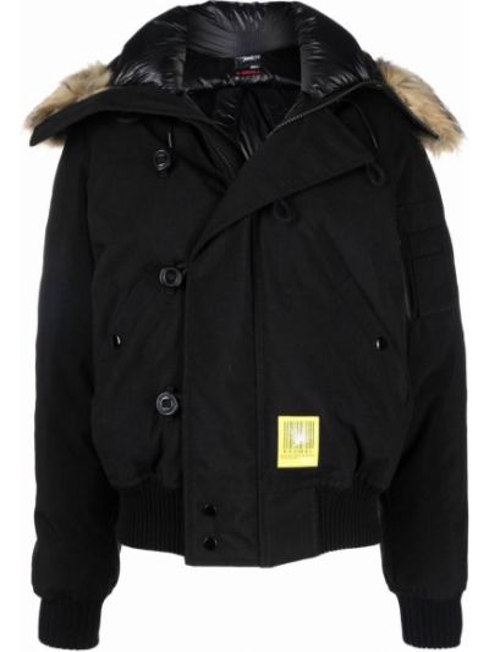Черная нейлоновая куртка R13