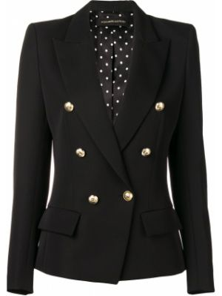 Черный приталенный пиджак двубортный Alexandre Vauthier