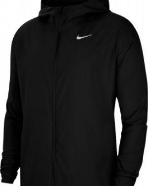 Облегченная черная куртка с нашивками на молнии Nike