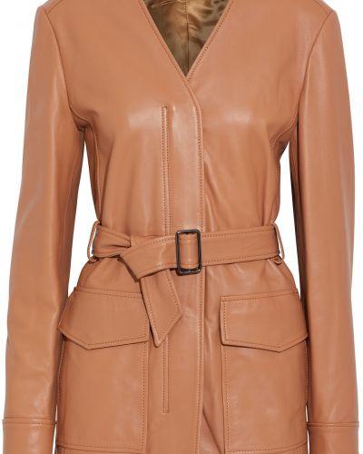 Кожаная куртка из верблюжьей шерсти Iris & Ink
