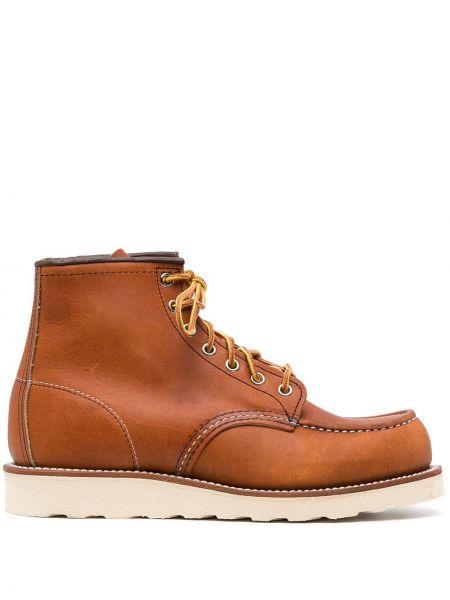 Botki skórzane - brązowe Red Wing Shoes