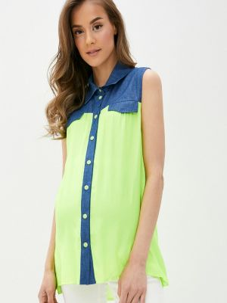 Блузка без рукавов зеленый весенний Mammysize