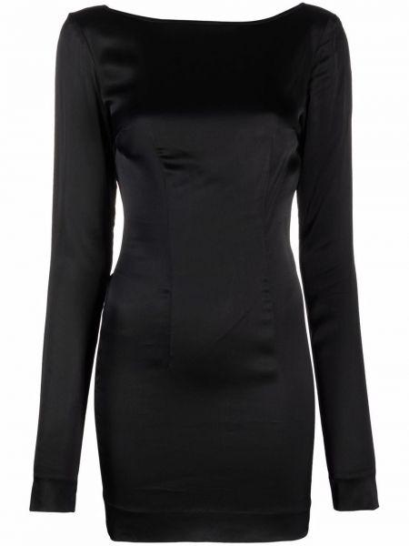 Платье макси с длинными рукавами - черное Rotate