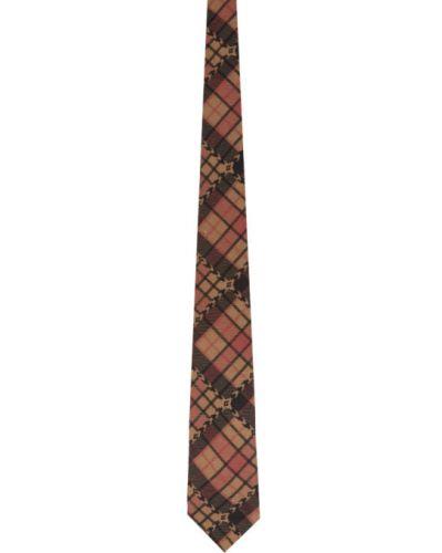 Jedwab krawat z obrazem prążkowany Gucci