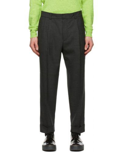 Spodnie wełniane z paskiem Acne Studios