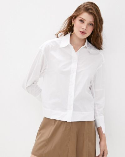 С рукавами белая рубашка Lusio