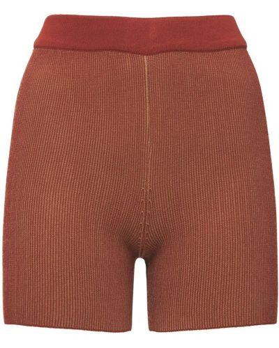 Коричневые шорты на резинке Jacquemus