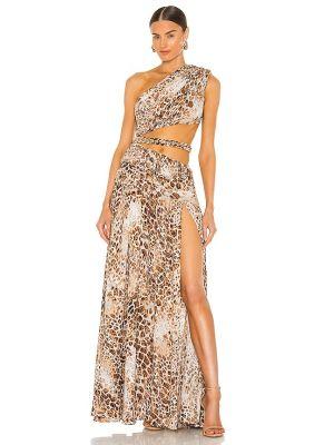 Klasyczna złota sukienka z paskiem Bronx And Banco