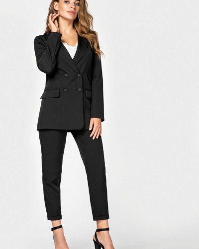 Черный облегающий брючный костюм Itelle