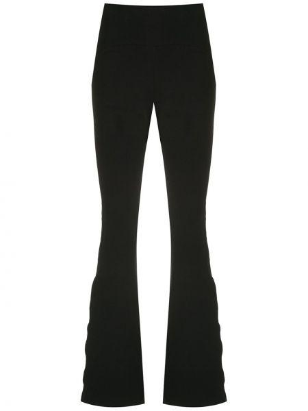 Расклешенные черные спортивные брюки узкого кроя Track & Field