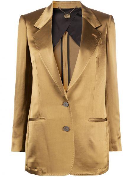 Желтая куртка с манжетами на пуговицах металлическая Maurizio Miri