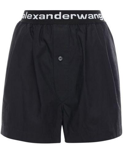 Bawełna bawełna czarny szorty z kieszeniami Alexander Wang
