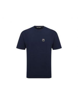 Синяя хлопковая футболка Palm Angels