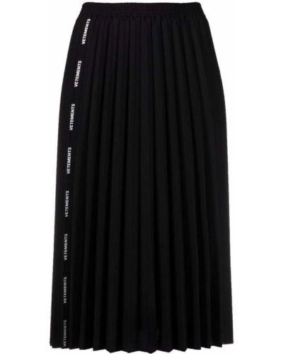 Плиссированная юбка - черная Vetements