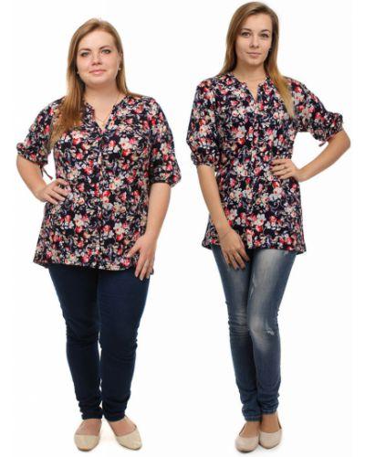 Блузка с V-образным вырезом средний Грандсток