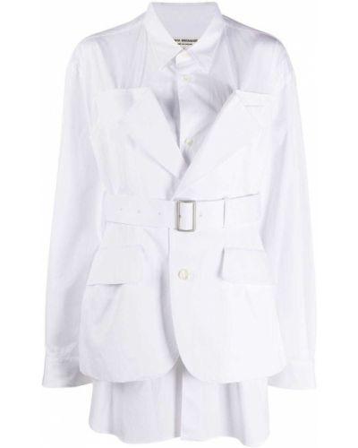 Хлопковый белый пиджак Junya Watanabe
