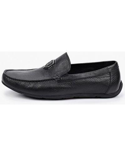 Черные кожаные мокасины Dino Ricci