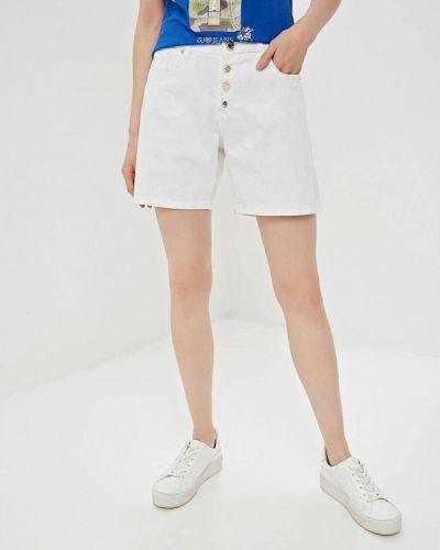 Джинсовые шорты белые Gaudi