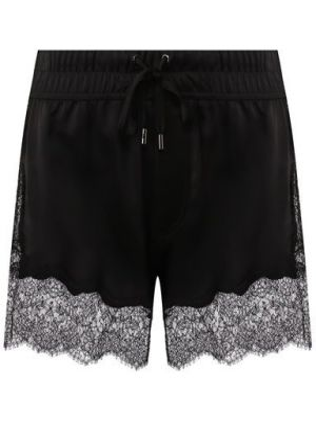 Шелковые вечерние ажурные черные шорты Tom Ford
