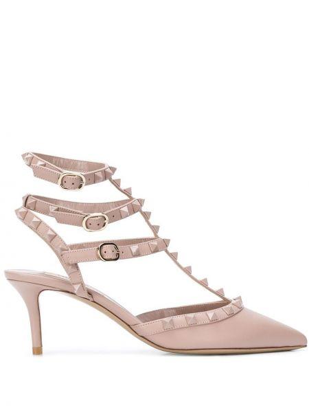 Туфли на каблуке кожаные на высоком каблуке Valentino