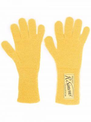 Rękawiczki wełniane - żółte Raf Simons