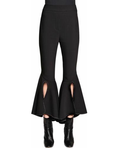 Czarne spodnie wełniane z paskiem Ellery