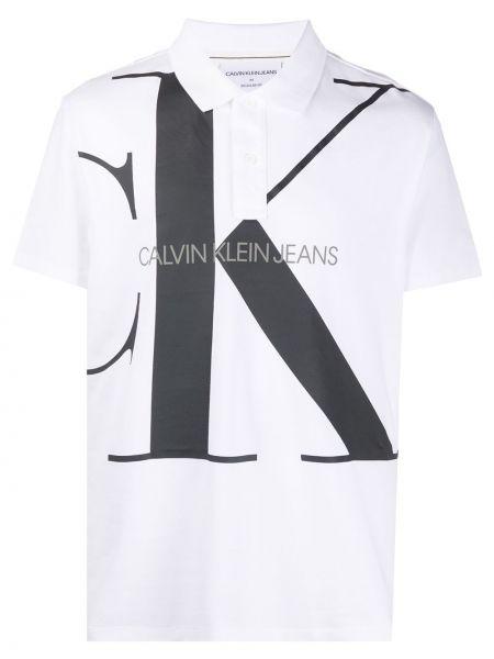 Koszula krótkie z krótkim rękawem klasyczna dżinsowa Calvin Klein Jeans