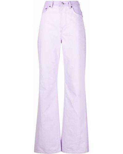 Klasyczne mom jeans - fioletowe Acne Studios