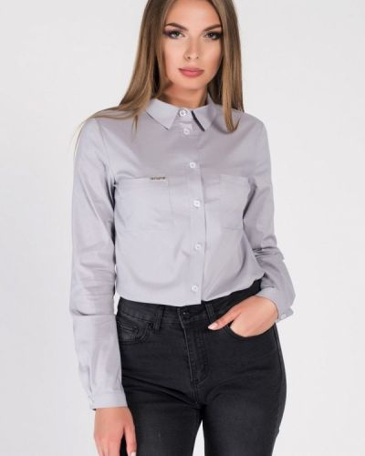 Рубашка с длинным рукавом серая Carica&x-woyz