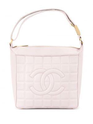 Фиолетовая кожаная сумка-тоут винтажная Chanel Pre-owned