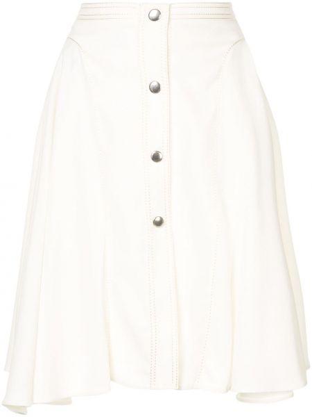 Белая плиссированная юбка мини на пуговицах Giambattista Valli