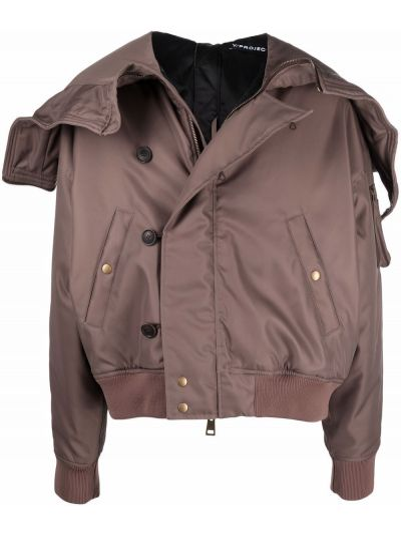 Коричневая куртка с карманами Y/project