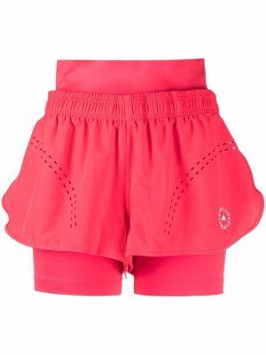 Розовые шорты из спандекса Adidas By Stella Mccartney