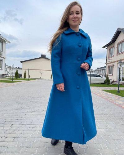 Пальто - бирюзовое Albanto