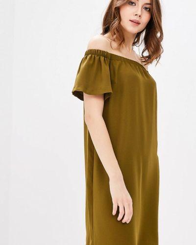 Зеленое платье с открытыми плечами Adl