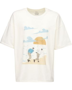 Biały t-shirt bawełniany oversize Handle With Freedom