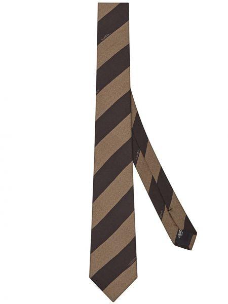 Krawat w paski Fendi