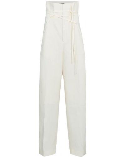 Białe spodnie Jacquemus