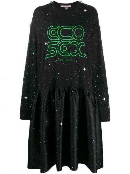 Sukienka midi z długim rękawem zielona Christopher Kane