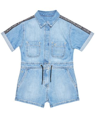 Niebieski kombinezon jeansowy Calvin Klein Jeans