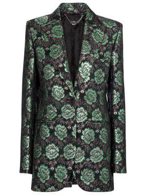 Черный пиджак из парчи Paco Rabanne