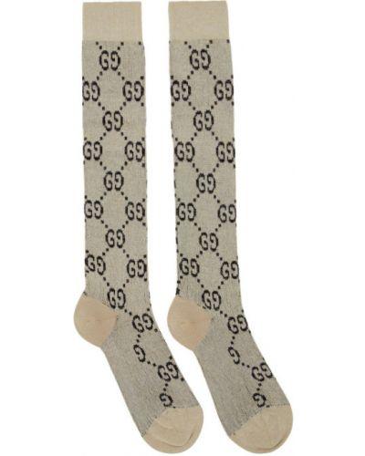 Bawełna bawełna różowy wysoki skarpety z mankietami Gucci