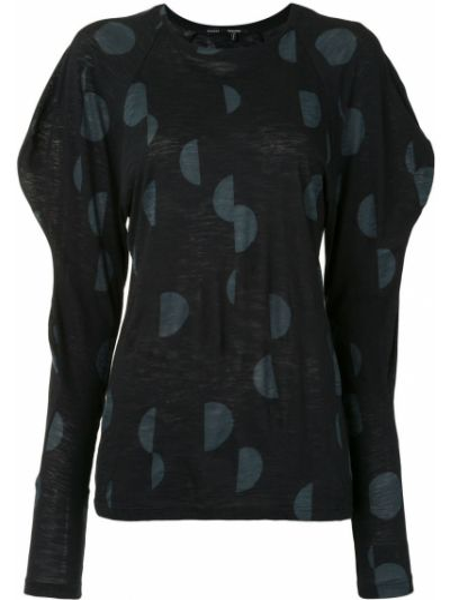 Длинная рубашка - черная Proenza Schouler