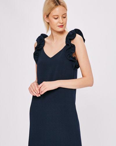 Платье мини с V-образным вырезом прямое с оборками Pepe Jeans