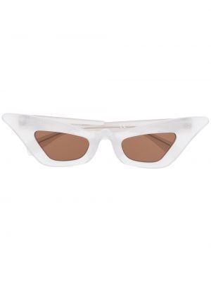 Солнцезащитные очки с логотипом - белые Kuboraum