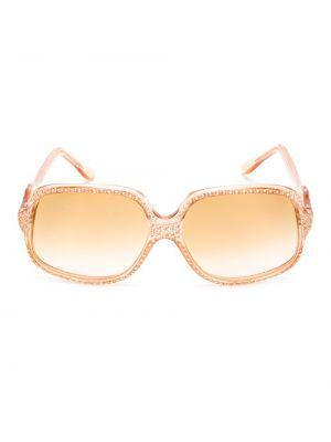 Прямые муслиновые розовые солнцезащитные очки винтажные Emilio Pucci Pre-owned