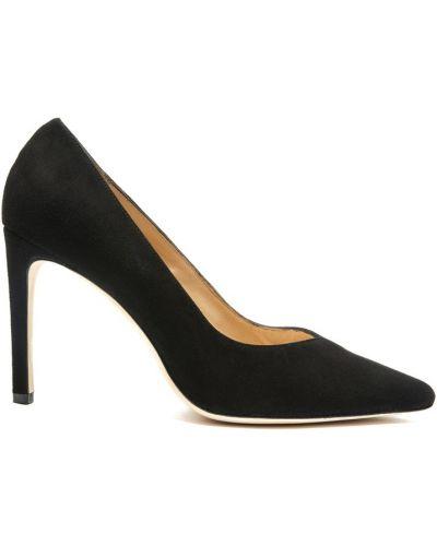 Черные замшевые туфли Sandro